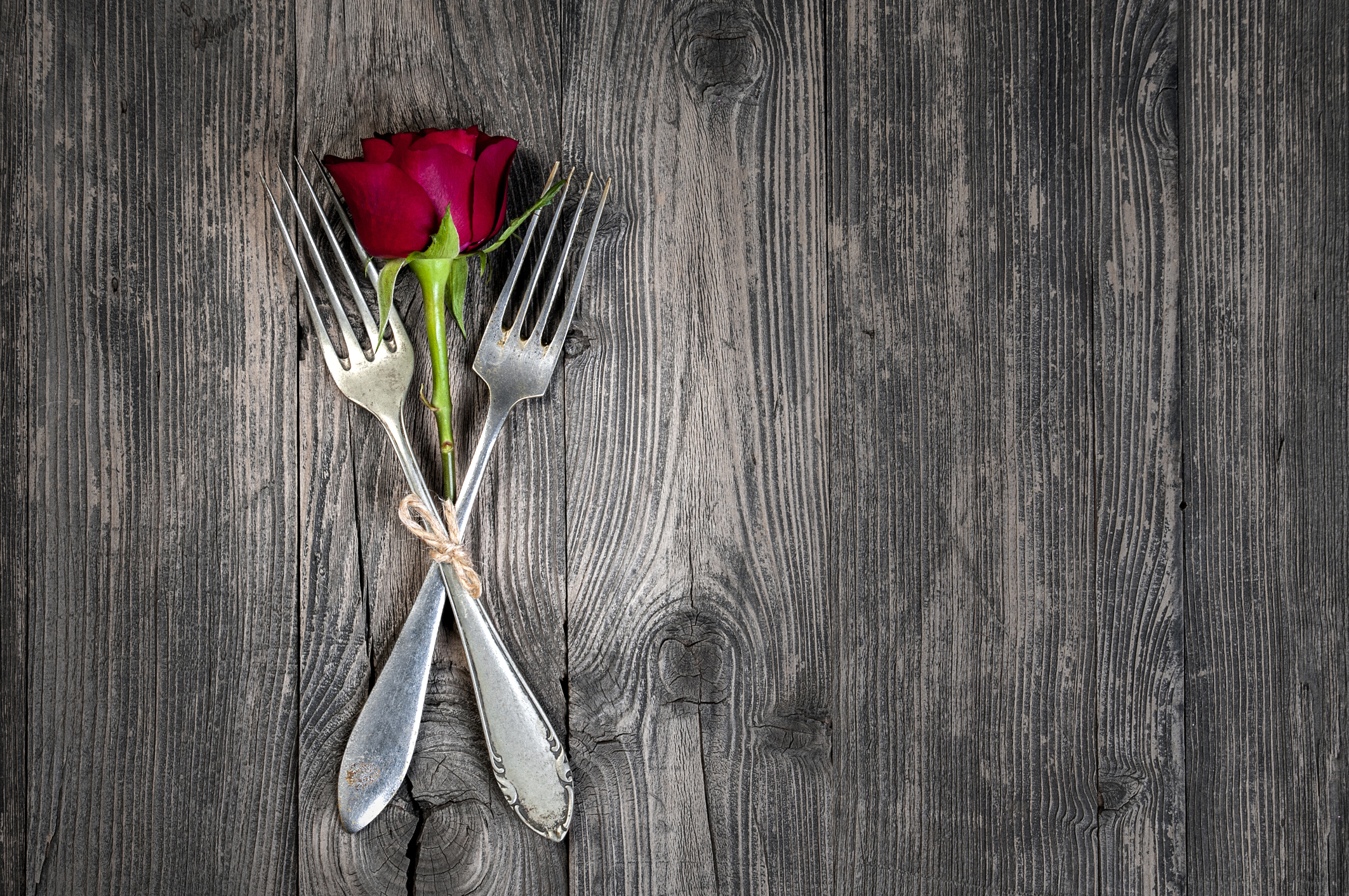 St. Valentine's festival table set
